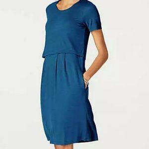 NWT J Jill Seaside Blue layered dress